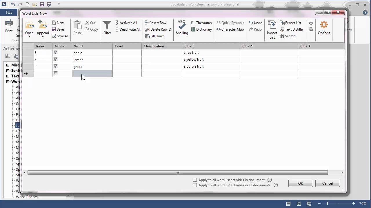 New Word List in Vocabulary Worksheet Factory 5 YouTube – Worksheet Factory
