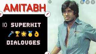 A #Tribute To #AmitabhBachchan #Top10 #Memorable #Dialogues Of Amitabh Bachchan   Back 2 Back #Hits