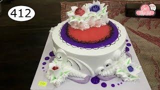 chocolate cake decorating bettercreme vanilla (412) Học Làm Bánh Kem Đơn Giản Đẹp - đỏ Tím (412)