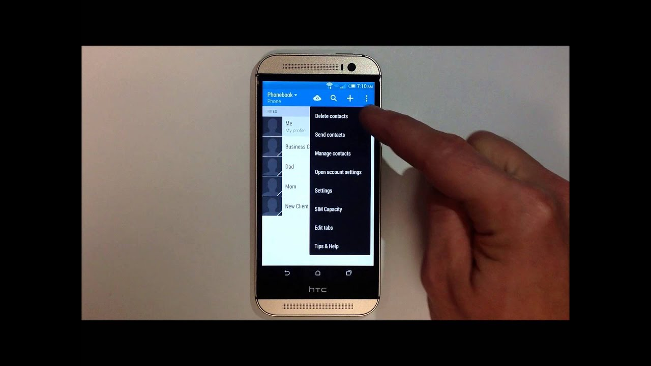 How To Delete Multiple Contacts  Htc One