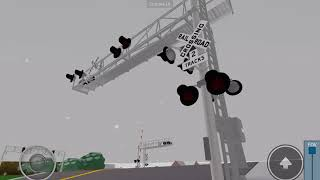 CSX 8888 oil tanker train passing through Glendale, Ohio in Roblox game