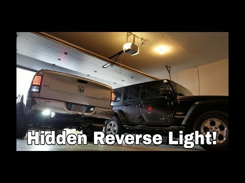 Hidden Auxiliary Reverse Light NO DRILLING