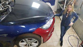 4 серия - Моя Тесла. Пластика морды за 200 тр. Дешёвка? Tesla. Лиса рулит