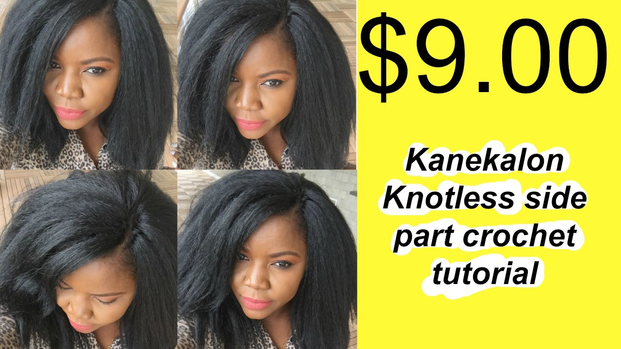 9 00 Kanekalon Knotless Invisible Side Part Crochet