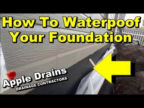Foundation & Footer Waterproofing, DIY, Keep The Water Out.