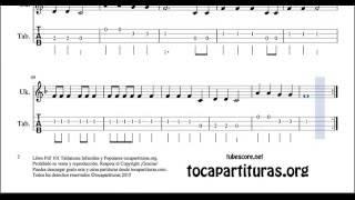 10 de 30 Popurrí Mix Tablatura Partitura de Ukelele Himno de la Alegría When the Saints Reloj Sire
