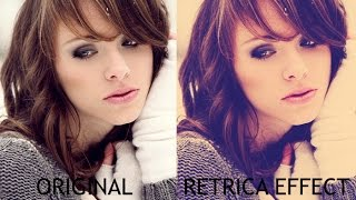 Photoshop - Retrica Effect #Tutorial