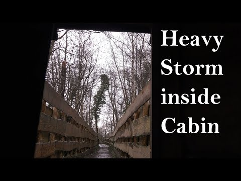 Heavy Storm Sounds from Cabin with Strong Gusts of Wind (Rea