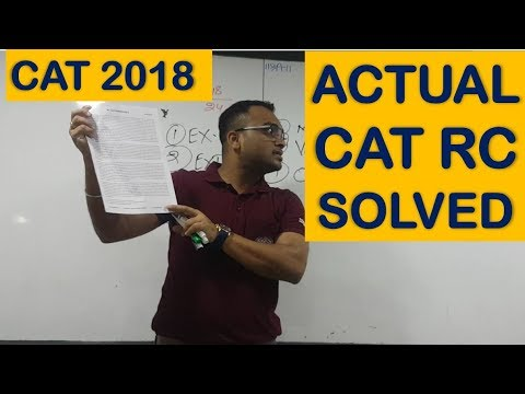 Strategy & Tricks for RC | Actual CAT RC Solved Part 1 | Pune Classroom Session