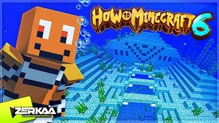 WE FOUND AN OCEAN MONUMENT AND DEFEATED THE BOSSES! (How To Minecraft S6 #14)