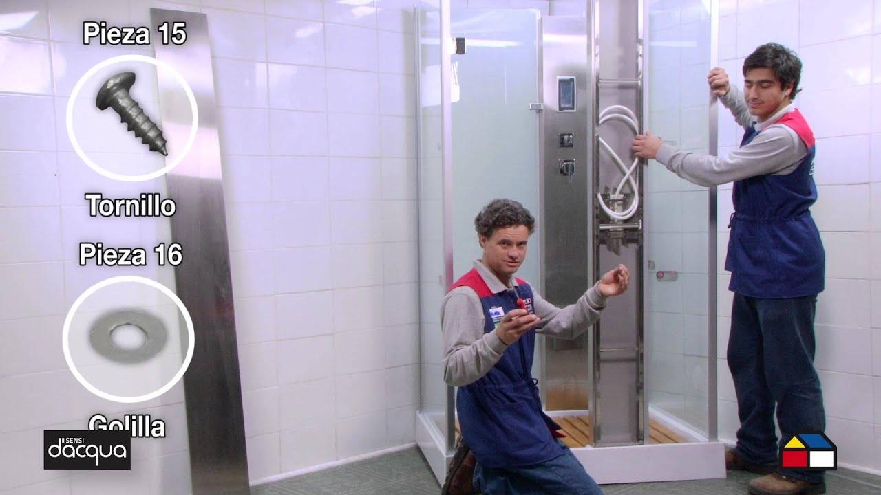 Cabina Sauna Vapor : Cómo armar e instalar tu cabina ducha con vapor cm