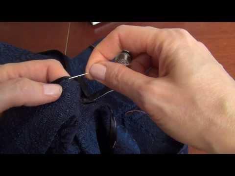 Вопрос: Как подшить край одежды вручную?