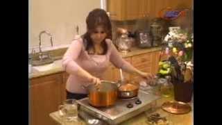Samira's Kitchen# 30 Stuffed Crown Roast Of Lamb أضلاع خروف, Saffron Rice, Pistachio Coffee Cake