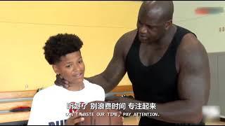 【籃球記錄片】奧尼爾親自傳授球技,揭秘奧尼爾兒子魔鬼特訓!