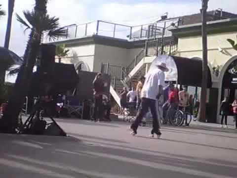 Roller Skate Dancing At The Beach