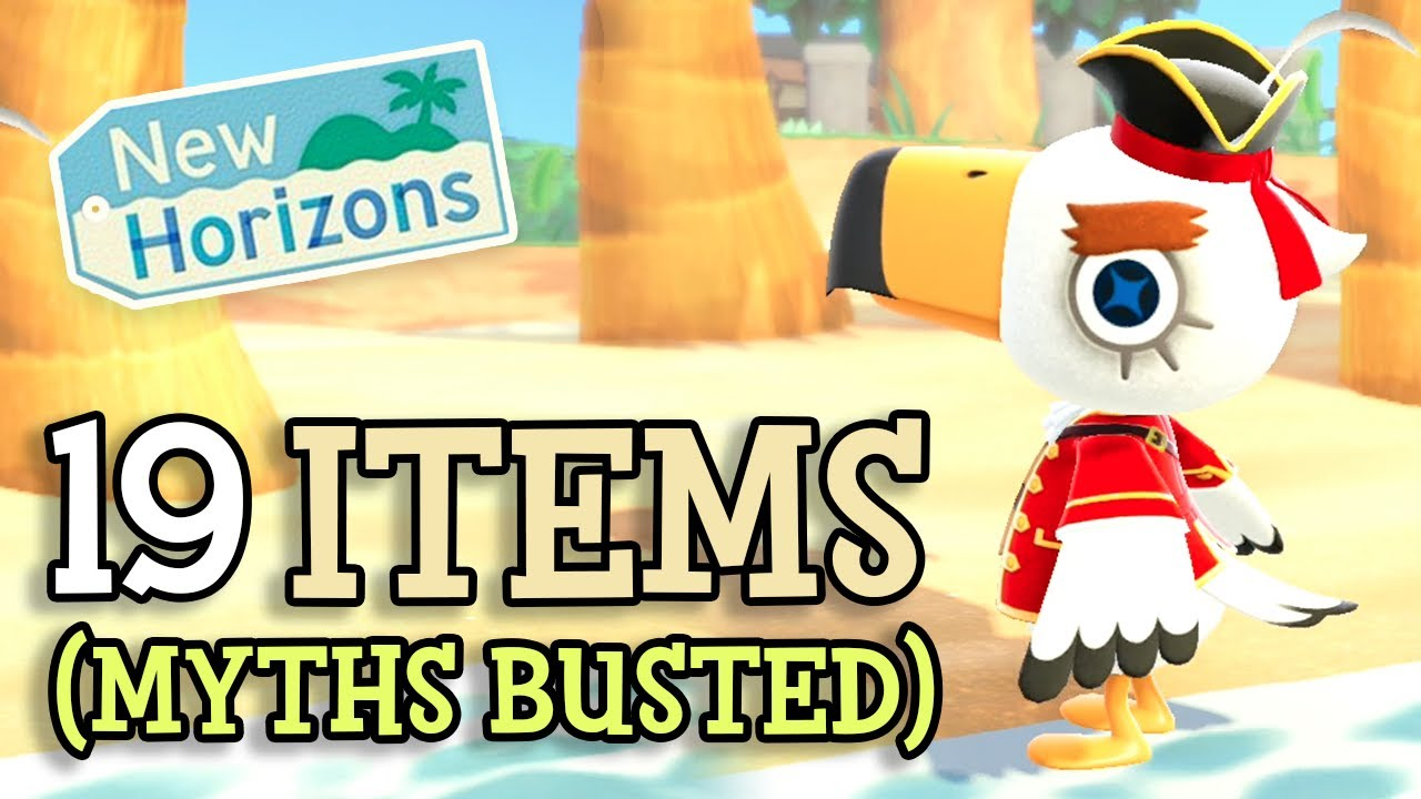Animal Crossing New Horizons: ALL 19 PIRATE ITEMS from CAPTAIN GULLIVARRR (Gulliver Myths Busted!)