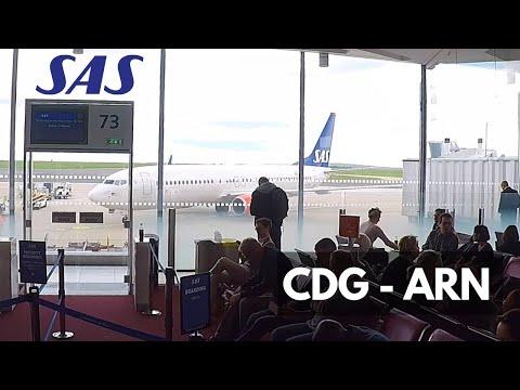 SAS BOEING 737-800 (economy) | PARIS - STOCKHOLM