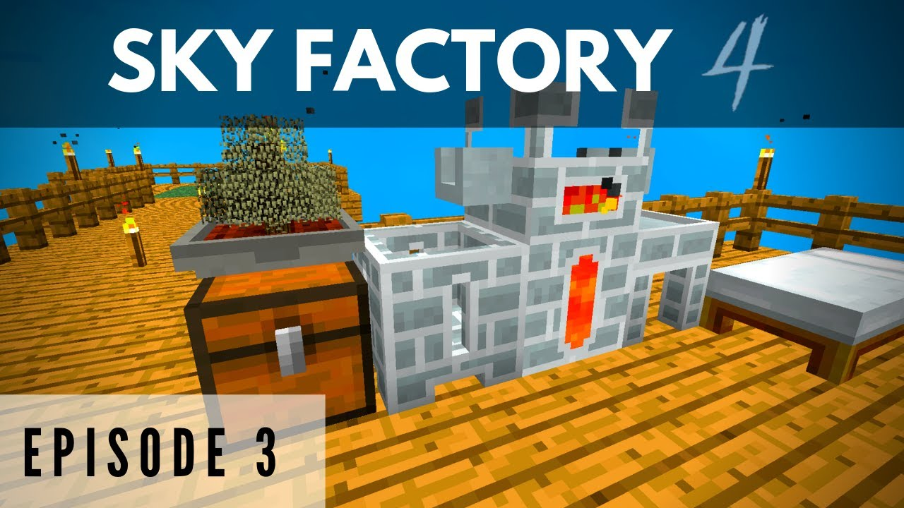 Sky Factory 4 :: Episode 3 - Making the Melter and Hoppers! :: (Minecraft)
