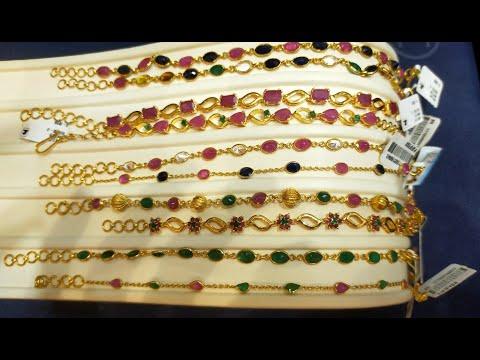 Light weight stone Bracelet collections 2021| Malabar gold & Diamonds Dubai