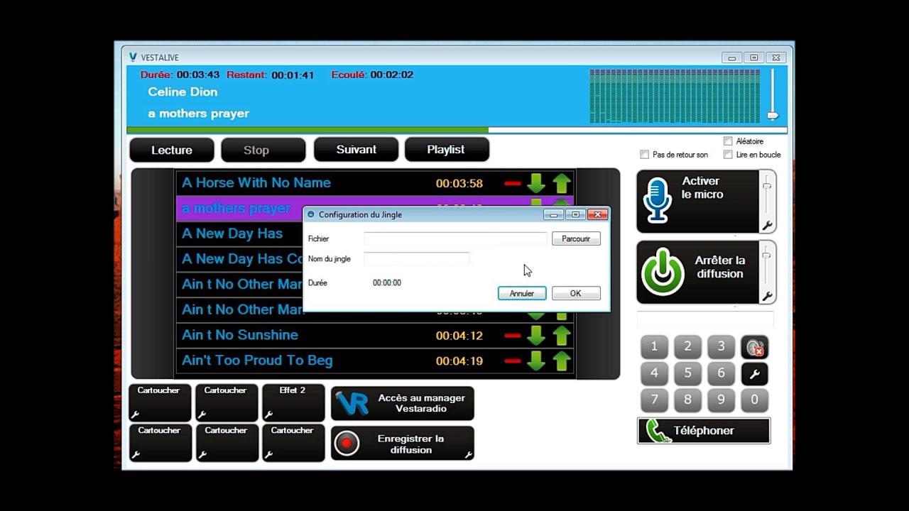 Vestalive 2 logiciel radio youtube for Logiciel montage cuisine gratuit