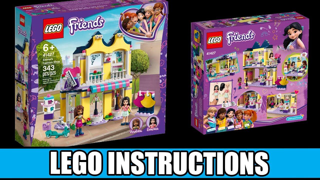 Lego Instructions How To Build Lego Emma S Fashion Shop 41427 Lego Friends Youtube
