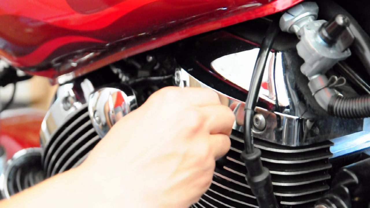how to replace spark plugs on a honda shadow spirit 750 motorcycle [ 1280 x 720 Pixel ]