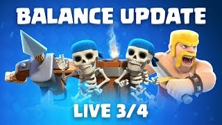Clash Royale: Balance Update Live! (3/4)