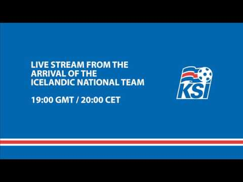 The arrival of the Icelandic National football team in Iceland