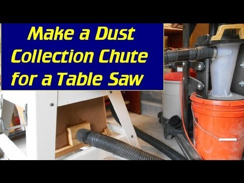 Make A Dust Chute For Ridgid Contractor Table Saw Youtube