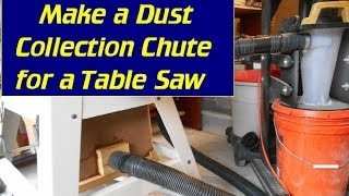 Make A Dust Chute For Ridgid Contractor Table Saw