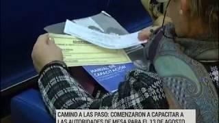 PASO: Iniciaron cursos de capacitación para autoridades de mesa