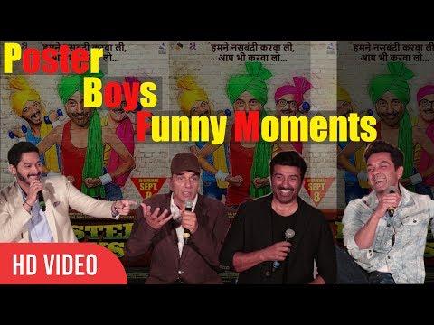 Poster Boys Funny Collection Event | Dharmendra | Sunny Deol | Bobby Deol | Shreyas Talpade