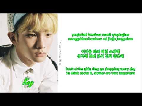 SHINee - Girls, Girls, Girls (Rom-Han-Eng Lyrics) Color & Picture Coded