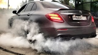 Mercedes AMG E 63 S burnout!)