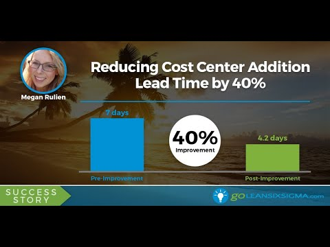 SUCCESS STORY: Reducing Cost Center Addition Lead Time by 40%