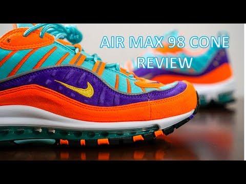 a0c519bf1be1b1 My First Pair Of Nike AIR MAX 98 CONE QS aka Rugrats 4k Review