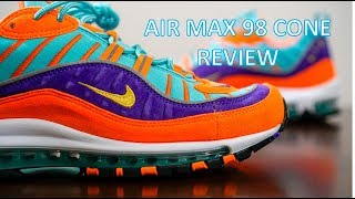 411953fd2016 REVIEW   ON-FEET - Air Max 98 Cone Review