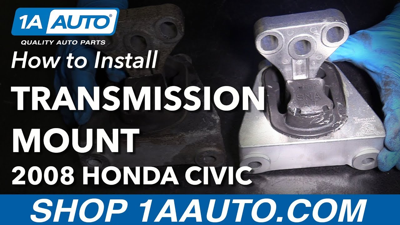 How To Replace Drivers Side Transmission Mount 06 11 Honda Civic L4 2006 Seat Schematic 1 8l