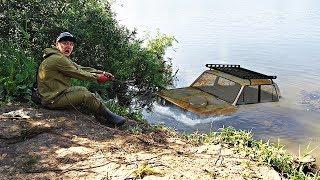 Подняли со дна реальный затонувший автомобиль с помощью поискового магнита