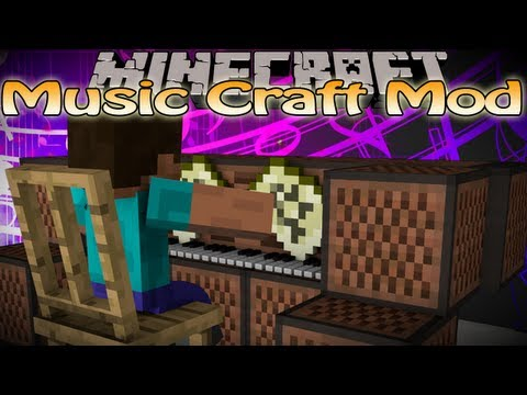Minecraft Music Craft Mod - Add pianos to your game! - Seto plays some songs!