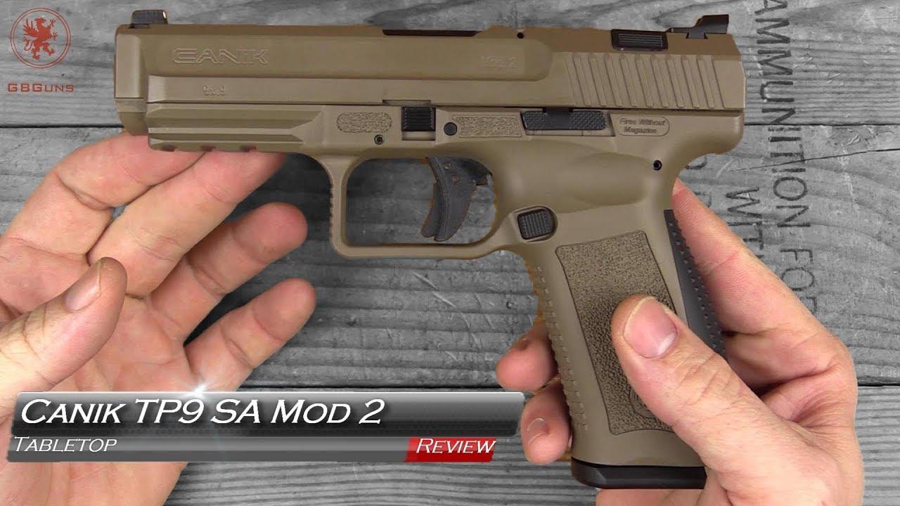 Canik TP9 SA Mod 2 Tabletop and Range Review