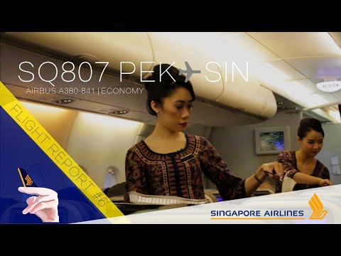 Singapore Airlines A380 Flight Report | SQ807 Beijing  Singapore