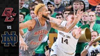 Boston College vs. Notre Dame Basketball Highlights (2018-19)