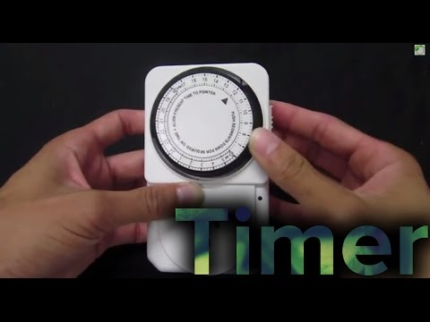 How to Use a Mechanical Timer for Hydroponics Setup Tutorial GrowAce.com
