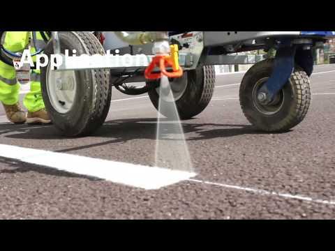 How to spray mark a car park