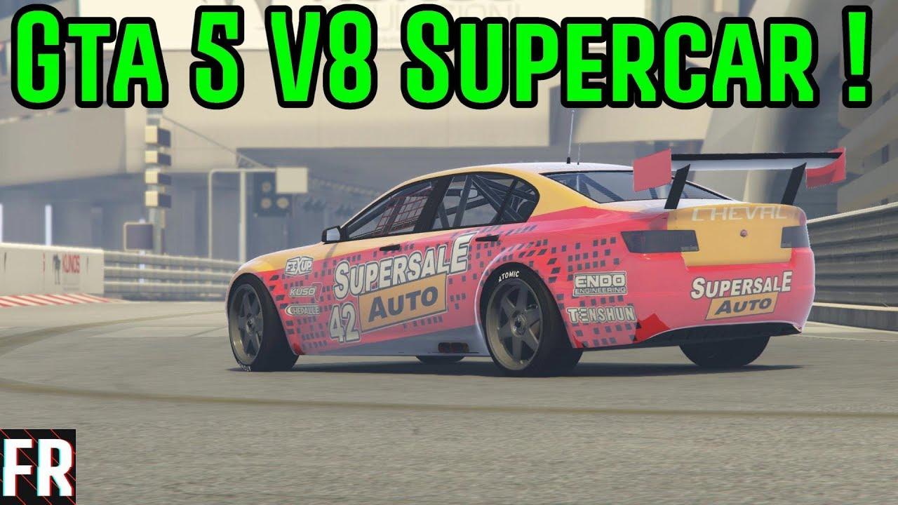 Gta 5 Mods V8 Supercar At Monaco Youtube