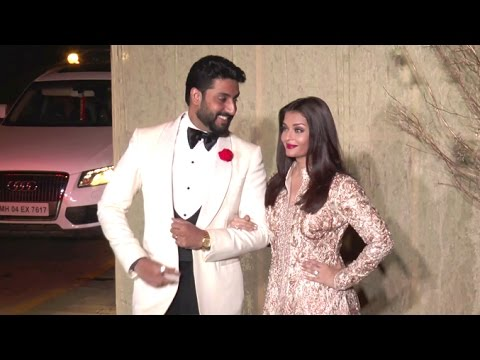Aishwarya Rai & Abhishek Bachchan's CUTE Moments At Manish Malhotra's Birthday Party 2016