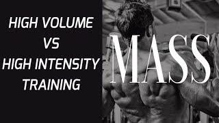 High Volume Training vs. High Intensity Training