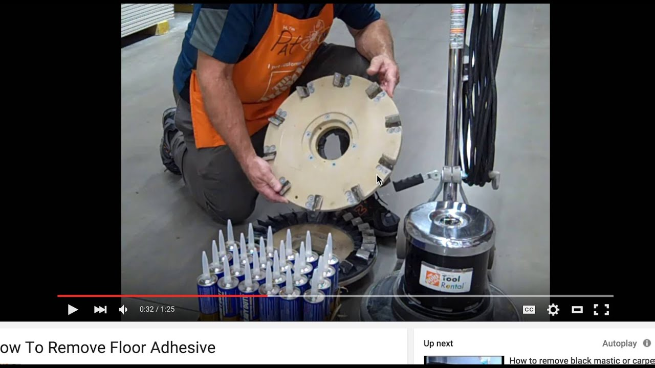 Home Depot Fail How To Remove Floor Adhesive