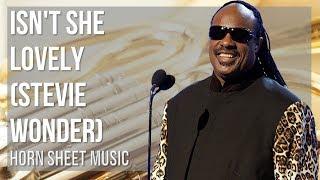 EASY Horn Sheet Music: How to play Isn't She Lovely by Stevie Wonder